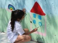 Inauguration de la fresque de l'école élémentaire de Champlong